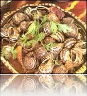 Escargots sauce rouge